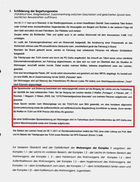 Aussagen der Rettungssanitaeter und der Kripo Gotha in Erfurt ...