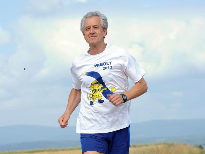 WIBOLT-Läufer Leopold Pfoser beim Training