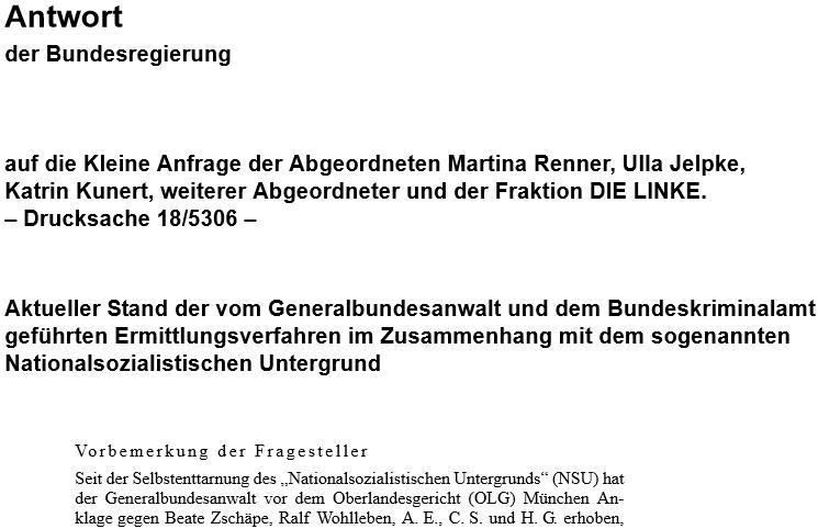 """Selbstenttarnung des """"Nationalsozialistischen Untergrunds"""" (NSU)"""