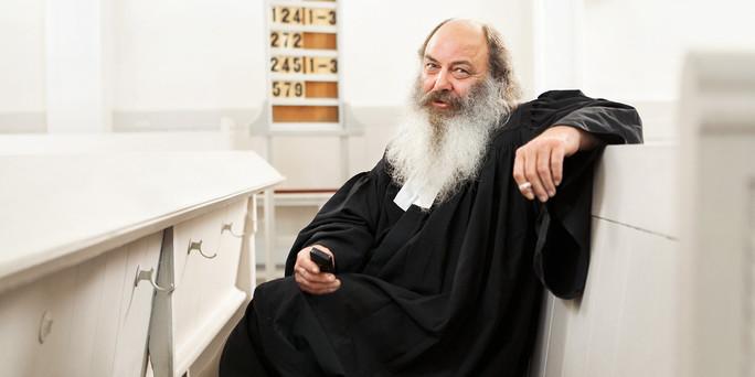 Lothar König, Stadtjugendpfarrer von Jena. Er ist für den taz Panterpreis 2013 nominiert. In der Friedenskirche bzw. in der Jungen Gemeinde Stadtmitte Jena, 5.6.2013