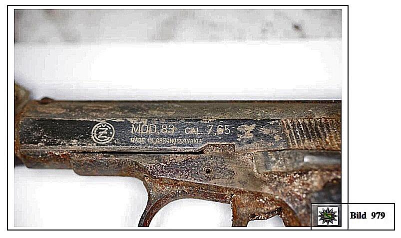 01 Auffindewaffe CZ-83 SD vom 09.11.2011 in Zwickau