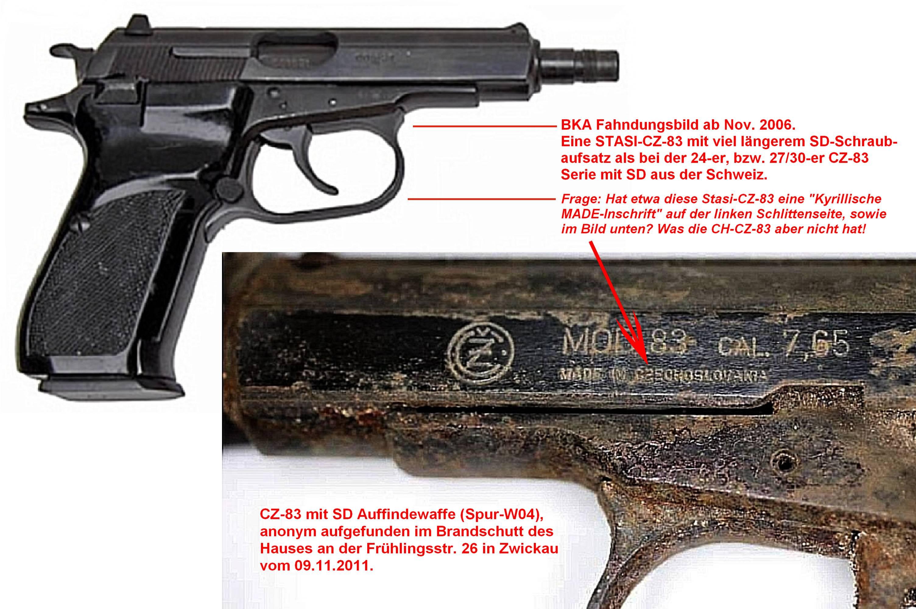 2 Stasi und Auffinde Waffe (Kyrillische Made-Inschrift)