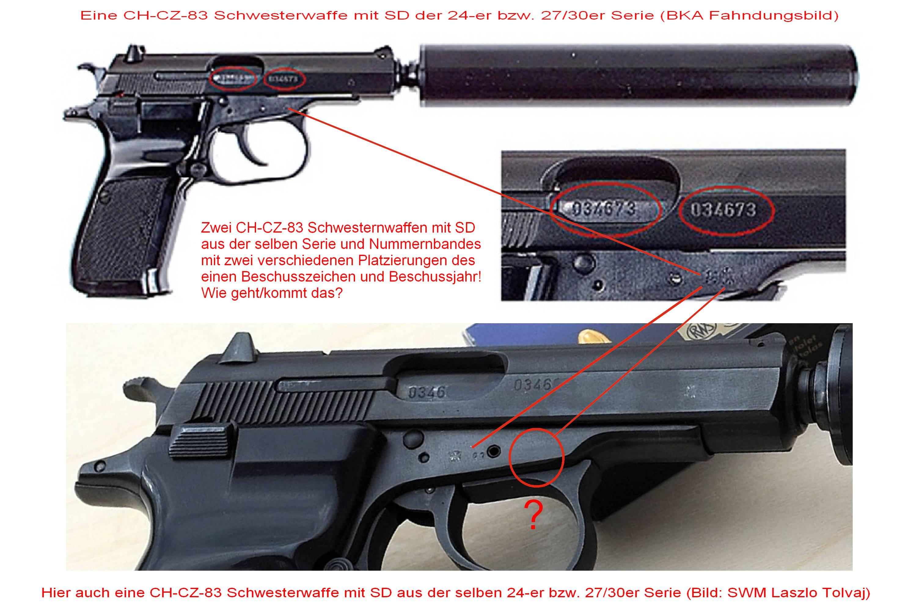 3...2x CH-CZ-83 SD mit versch. Platzierungen der Beschuss...(mit Text), 2