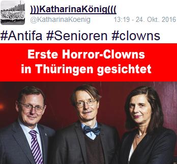 erste Horror-Clowns in Thüringen gesichtet