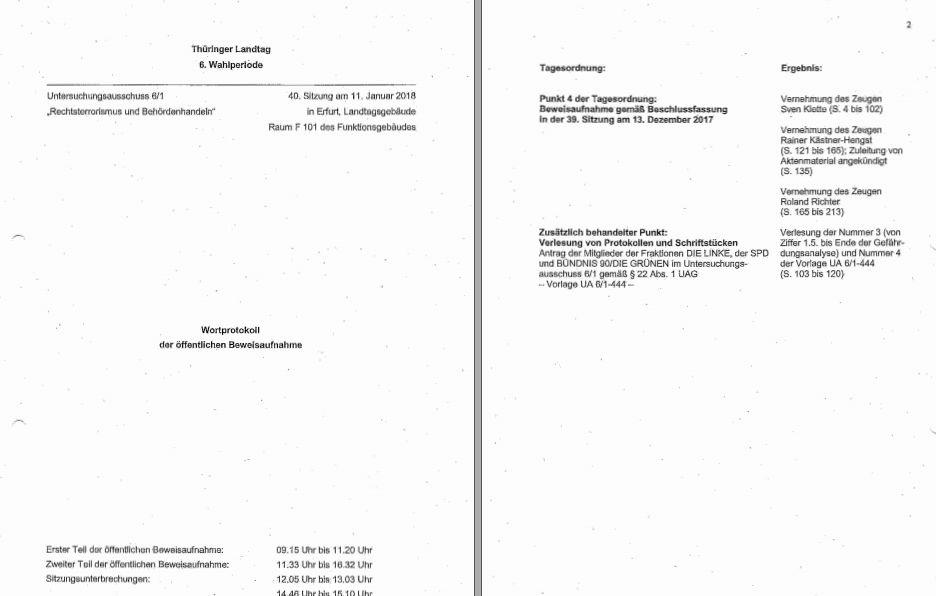 Erfurter #NSU Gedöns vom Jan. 2018, reuiger Sünder Sven K. | NSU LEAKS