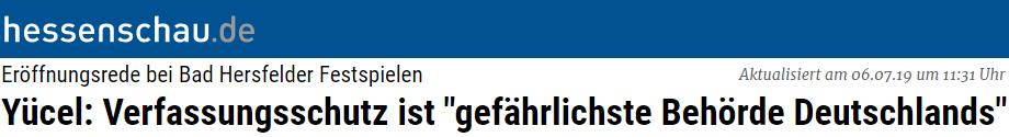 """Yücel: Verfassungsschutz ist """"gefährlichste Behörde Deutschlands"""""""