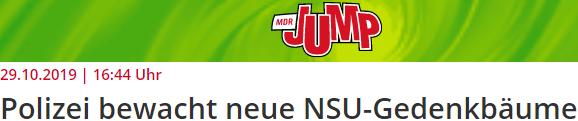 Polizei bewacht neue NSU-Gedenkbäume