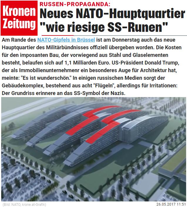 """Neues NATO-Hauptquartier """"wie riesige SS-Runen"""""""